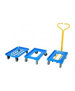 chariot plateau avec poignée de manutention